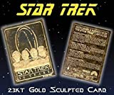 """STAR TREK """"30 YEAR ANNIVERSARY 4 CAPTAINS MEMORABLE MOMENTS"""" 23KT GOLD CARD! ONLY 10,000!"""
