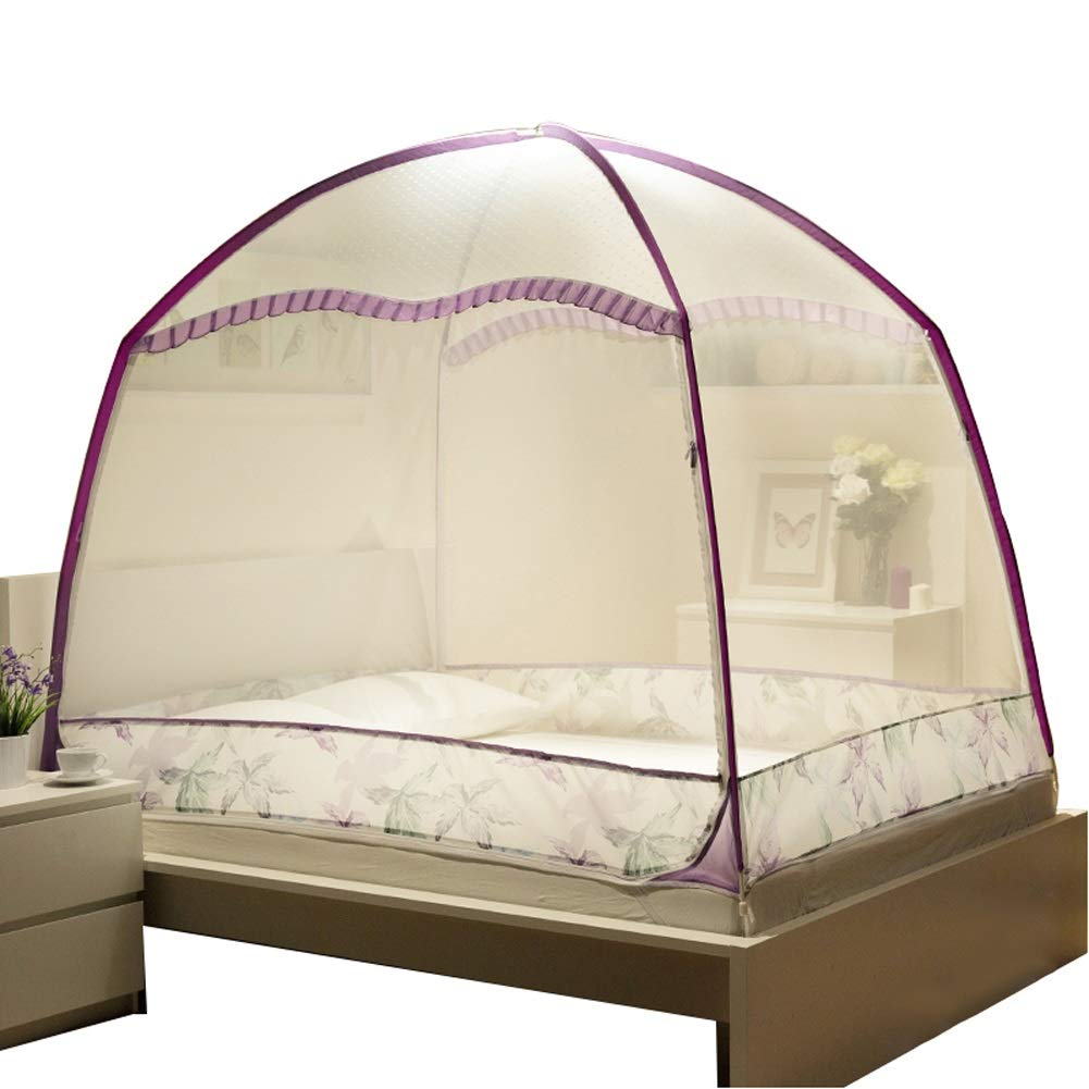 Mosquito Net Mosquito Netting, Folding Portable Pop up Tent Mesh w/Bottom, 3 Openings Fine Mesh, Easy Installation & Carry Bag (Size : 2m×2.2m Bed)
