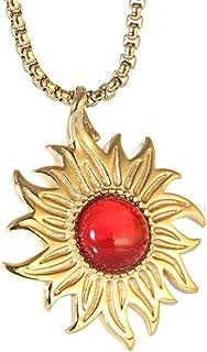 Epinki Titan Stahl Herren Halskette Sonne Form Freundschaftsketten Anhänger
