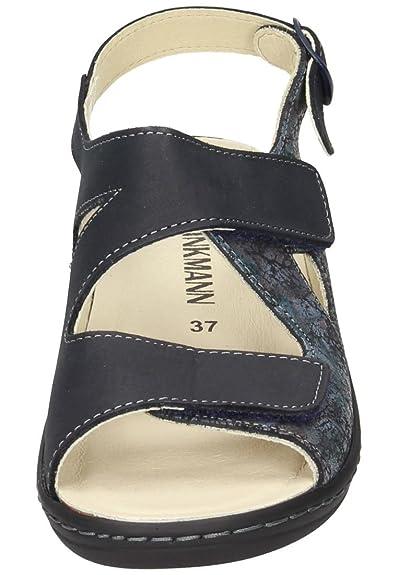 Dr. Brinkmann Damen-Sandale Blau 710857-5, Grösse 42