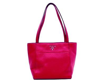 570c200884d950 Amazon.com: Prada Women's Pink Vitello Phenix Leather Handbag Tote 1BG157:  Shoes