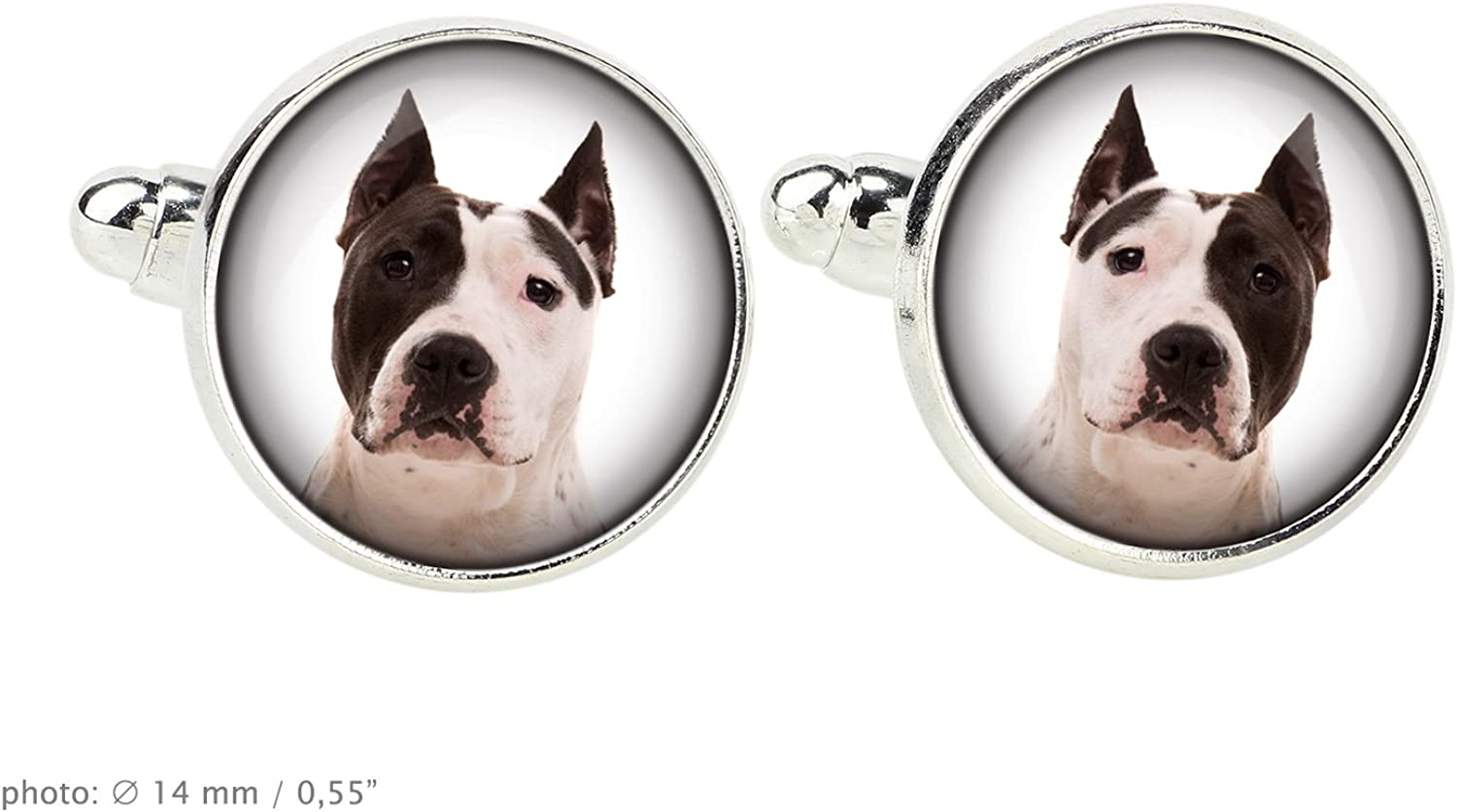 Your photo Customizable men\u2019s jewelry for pet lovers Handmade Azawakh Cufflinks with a photo of a dog