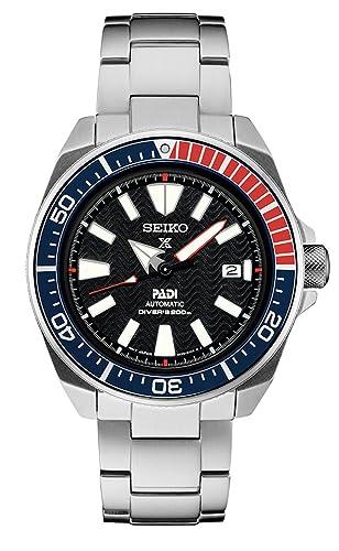 Amazon.com  Seiko Men s Prospex Special PADI Edition Samurai Black Dial  Stainless Steel Bracelet Watch - Model  SRPB99  Seiko  Watches 80886e741c