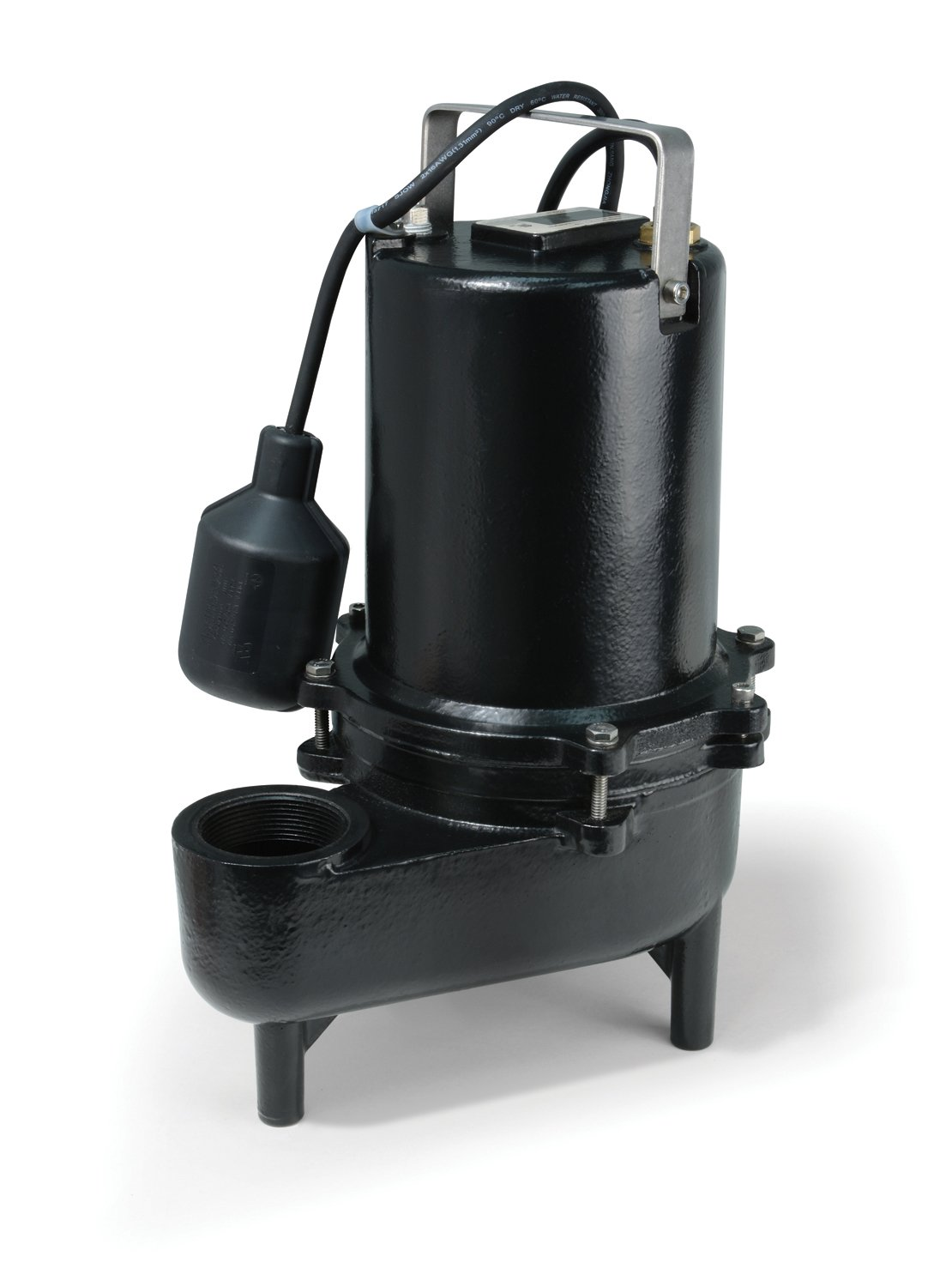 ECO-FLO Products ESE40W Cast Iron Sewage Pump with Wide Angle Switch,  4/10 HP, 6,600 GPH by ECO-FLO PRODUCTS INCORPORATED