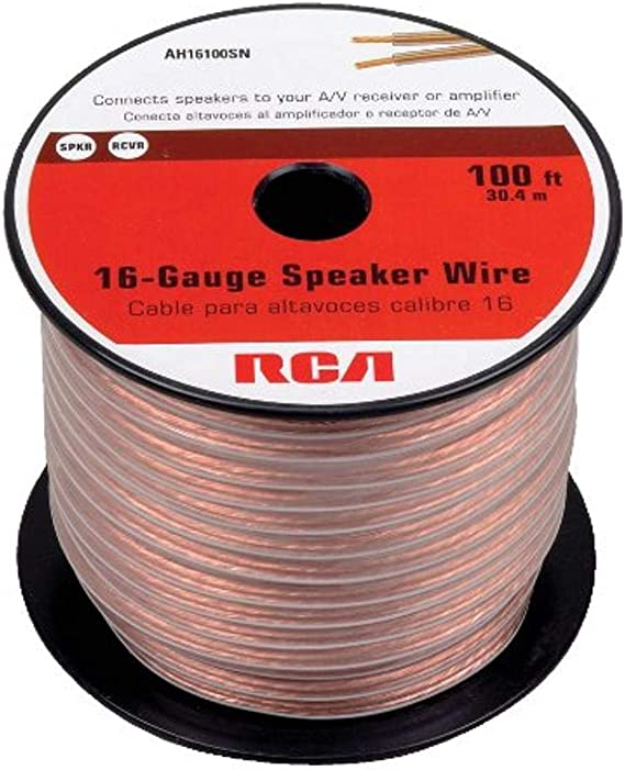 100 Feet Basics 100ft 16-Gauge Audio Stereo Speaker Wire Cable