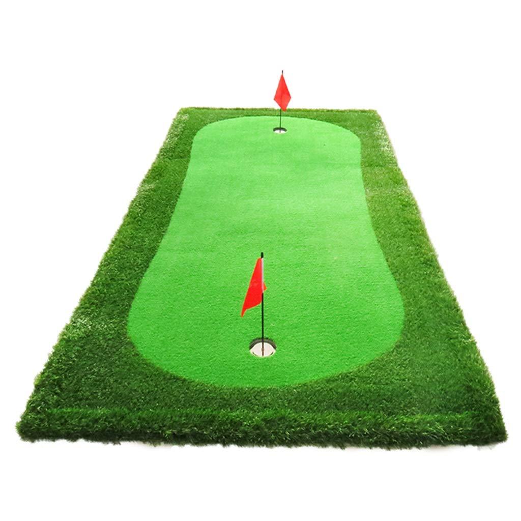 ゴルフパッティンググリーンミニゴルフスモールグリーン屋内3mパッティング練習携帯用人工緑屋内事務練習毛布 (Color : Green, Size : 300*75*5cm) 300*75*5cm Green B07R33H4WC