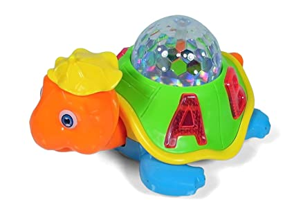 buy toyshine bump and go turtle toy with 3d lights music and