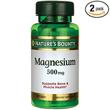 Natures Bounty Magnesium 500 mg Tablets 100 ea (Pack of ...