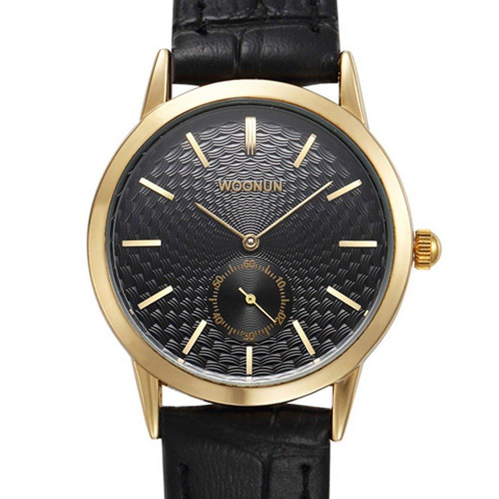 Amazon.com: woonun Moda exquisito pequeño relojes de piel ...