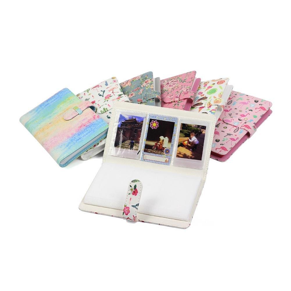 B f/ür Fujifilm Instax Mini8//9//7S//7C//25//70//90 7,6 cm Mini-Fotoalbum PU-Leder Sofort-Fotoalbum 96 Taschen Fotoalbum