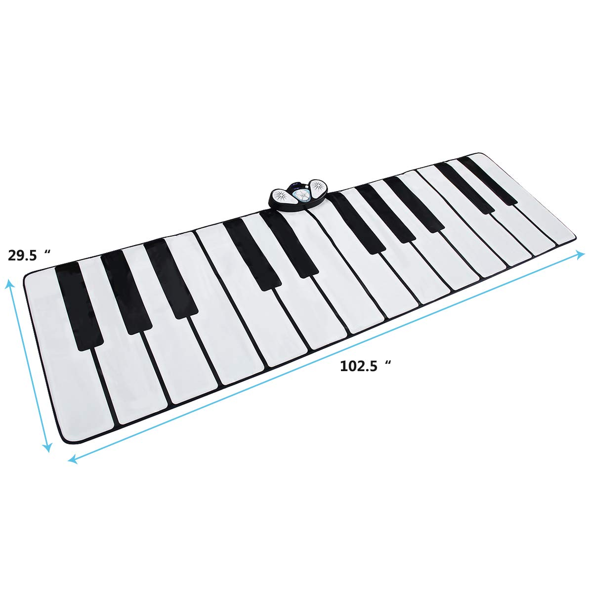 Costzon Giant Keyboard Playmat, 24 Keys Piano Play Mat, Foldable Activity Mat w/ 9 Selectable Musical Instruments, Play - Record - Playback - Demo - Tone Conversion Modes, Support MP3, Phone Play by Costzon (Image #7)