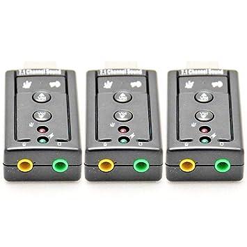 USB 2.0 External 7.1 Channel 3D Virtual Audio Sound Card Mic Adapter Laptop PC