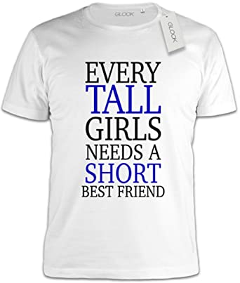 5f22ce4df Every Tall Girl Needs A Short Best Friend Funny Slogan T-Shirt - XX-Large:  Amazon.co.uk: Clothing