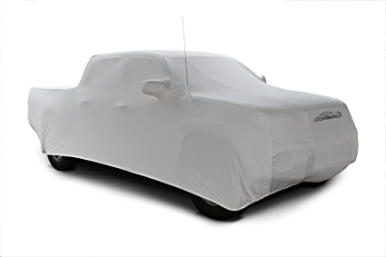 Coverking Custom Car Cover for Select Chevrolet Corvette Models Pearl White with Black Sides Satin Stretch