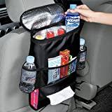 Car Seat Organizer , Standard Size Car Front Back Seat Organizer,Multi-Pockets Travel Storage Bag,Insulated Car Seat Back Drinks Holder Cooler (Back seat storage)