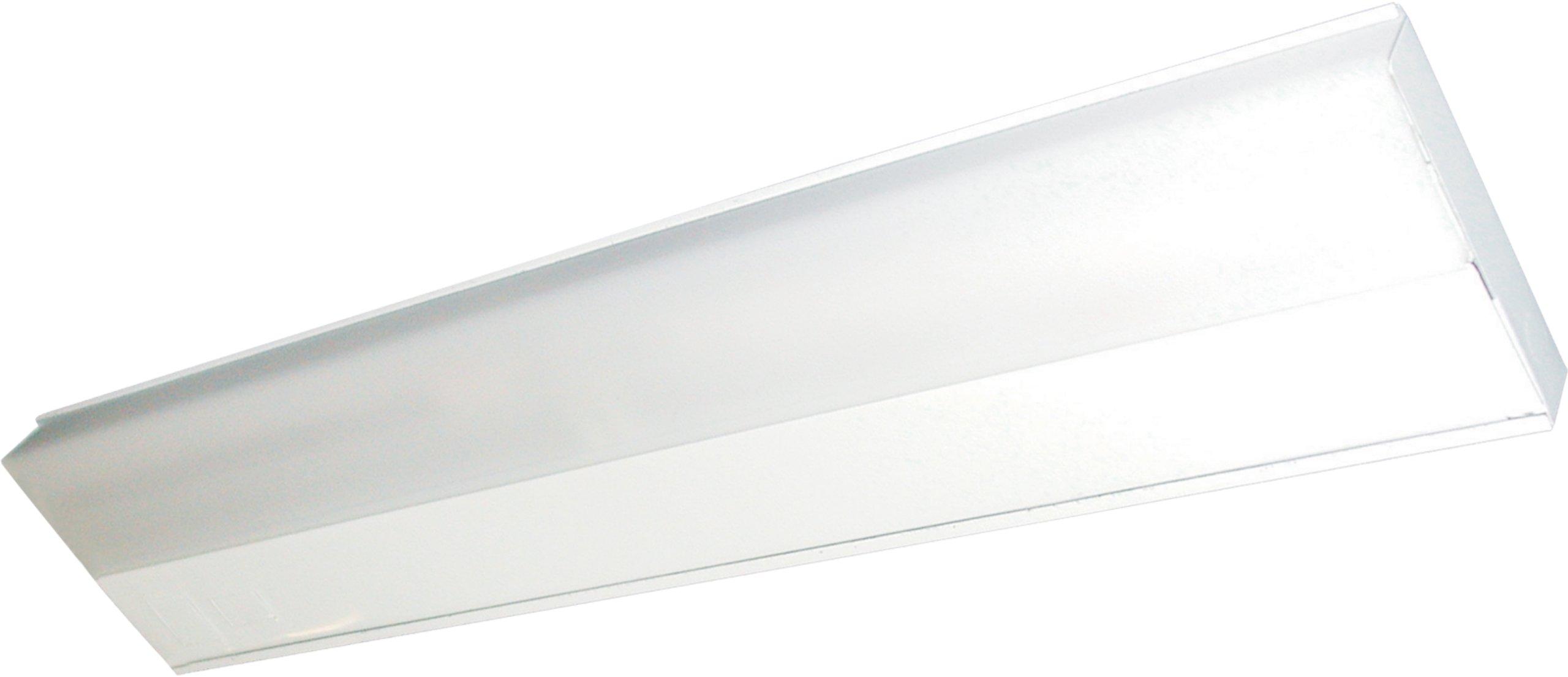 Maxim 87807WT CounterMax MX-FD 24'' 1-Light Fluorescent, White Finish, White Glass, Mini Bi Pin T5 Fluorescent Fluorescent Bulb , 18W Max., Wet Safety Rating, 2700K Color Temp, Shade Material, 1355 Rated Lumens