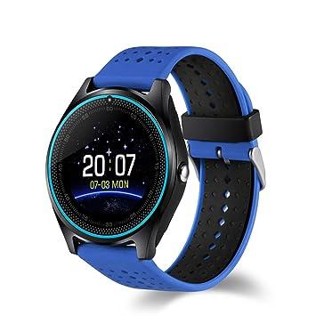 AIYIBEN V9 Bluetooth Smart Watch con pantalla táctil tarjeta SIM ranura para tarjetas podómetro manos libres soporte de múltiples idiomas para Android ...