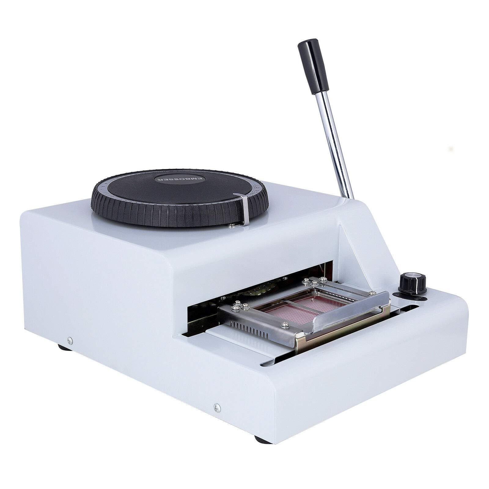 72 Character Card Embossing Machine Manual Embosser Stamping Machine for PVC Credit Bank VIP ID Membership Gift Card
