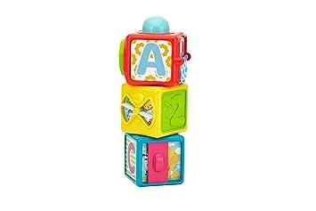 Fisher Price Blocs D Activite 3 Cubes Colores A Empiler Pour Bebe 6 Mois Et Plus Dhw15
