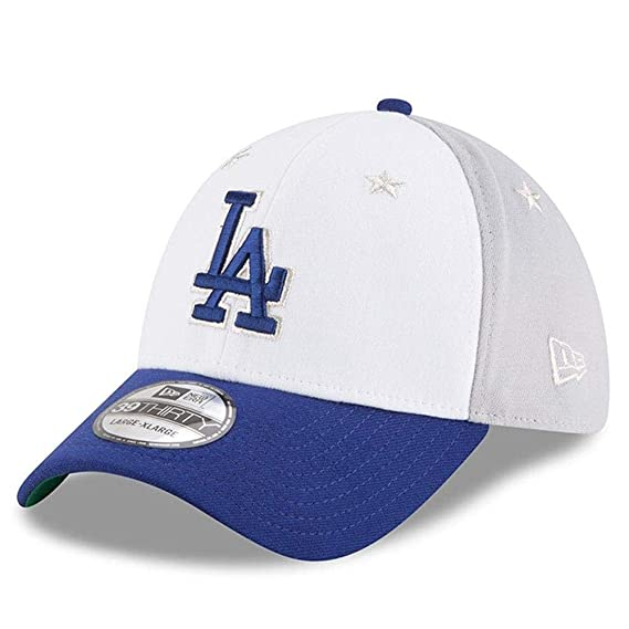 Amazon.com : New Era Los Angeles Dodgers 2018 MLB All-Star Game 39THIRTY Flex Hat - White, Blue (Med/Large) : Sports & Outdoors