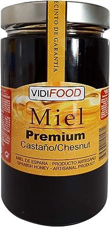 Miel de Castaño Premium - 1kg - Producida en España - Alta Calidad ...