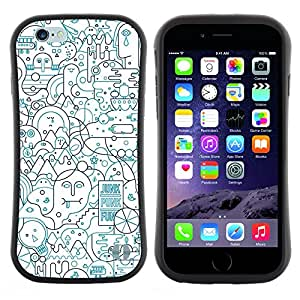 "Pulsar iFace Series Tpu silicona Carcasa Funda Case para Apple (4.7 inches!!!) iPhone 6 / 6S (4.7 INCH) , Líneas Resumen forma Art Pen Ocupado"""