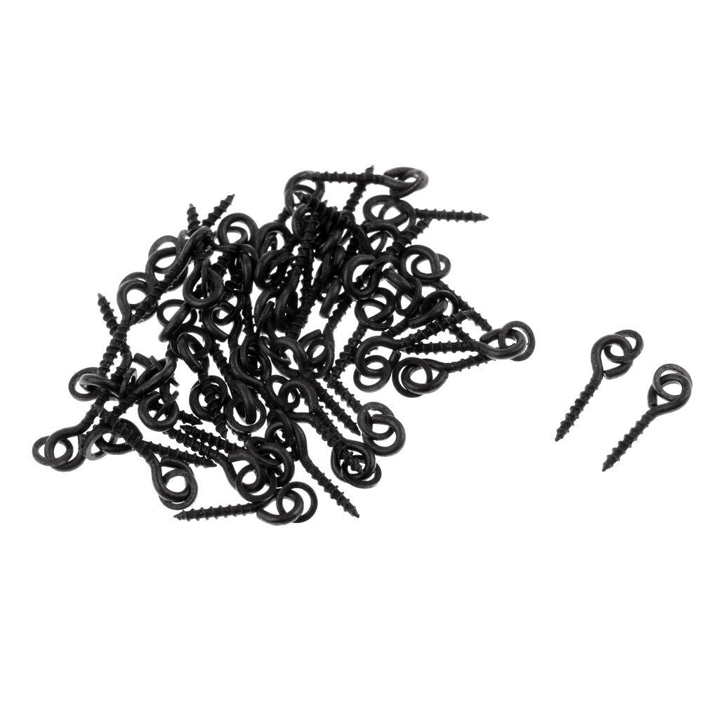 MagiDeal 50 St/ück K/öderschrauben mit runde ringschleife f/ür pop up bollies anpacken