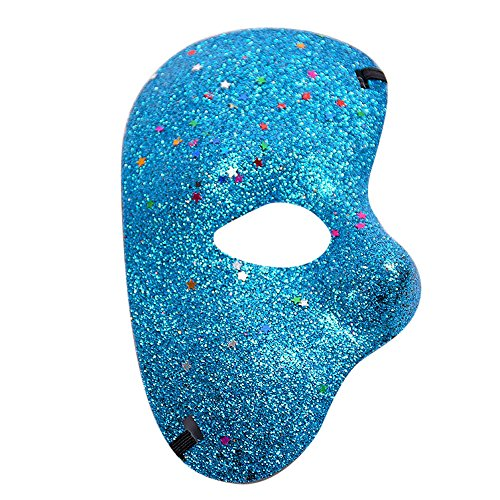 Tuscom Masquerade Meteor Turtle Crack Half Face Mask,for Halloween Cutout Prom Party Mask Accessories Carnival Decorations (7 Style) -