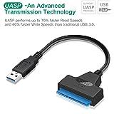 "KUNOVA (TM) UASP USB 3.0 to SATA 22Pin Adapter Cable SATA to USB 3.0 Super Speed 2.5"" Hard Disk Drive SSD"