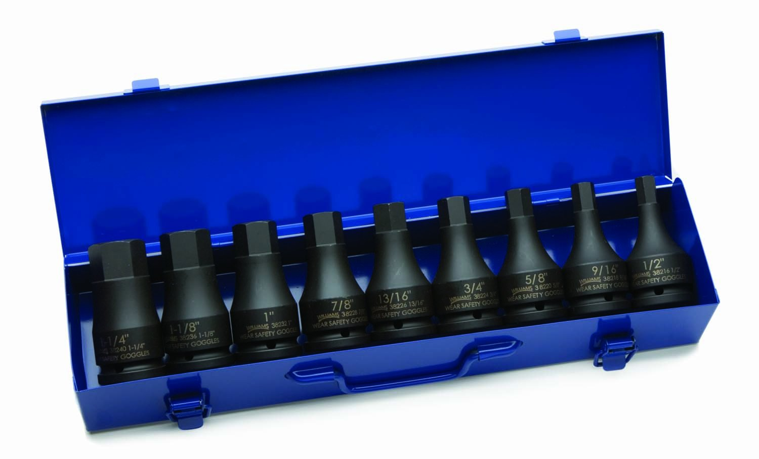 Williams 38903 9-Piece 3/4-Inch Drive Hex Driver Impact Socket Set by Williams  B001DO2KWS