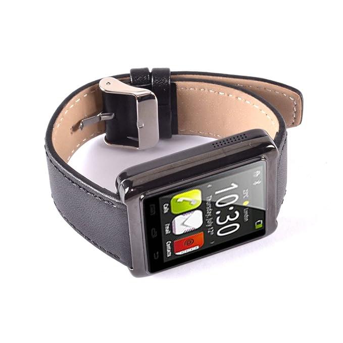 Lemfo U10 Bluetooth Elegante Reloj Cuero Correa Reloj de ...