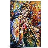 "iCanvasART LEA122-1PC3-18x12 iCanvas Jimi Hendrix Gallery Wrapped Canvas Art Print by Leonid Afremov, 12"" X 0.75"" X 18"""