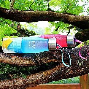 H2O Lemon / Fruit Infuser Water Bottle, Phroboxl 650ml Plastic Water Bottle Citrus Juicer Lemon Squeezer Cup 22oz - Leak Proof