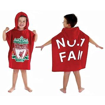 Liverpool FC para niños toalla Poncho con capucha