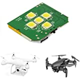 Drone Strobe, 5 White Cree LEDs Drone Strobe for Night Anti Collision, Fits All Multirotor Quadcopter Drones Like DJI Phantom
