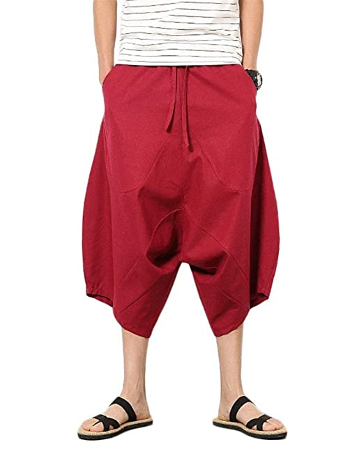 Saoye Fashion Pantaloni Casual da Uomo Pantaloni Harem