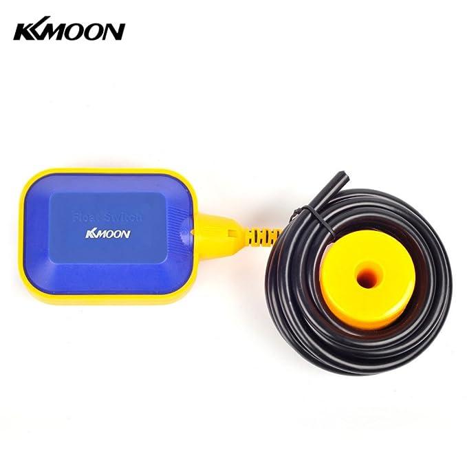 KKmoon 2 m automática (diseño cuadrado interruptor de flotador líquido Sensor de nivel de líquido controlador para depósito de agua torre: Amazon.es: ...