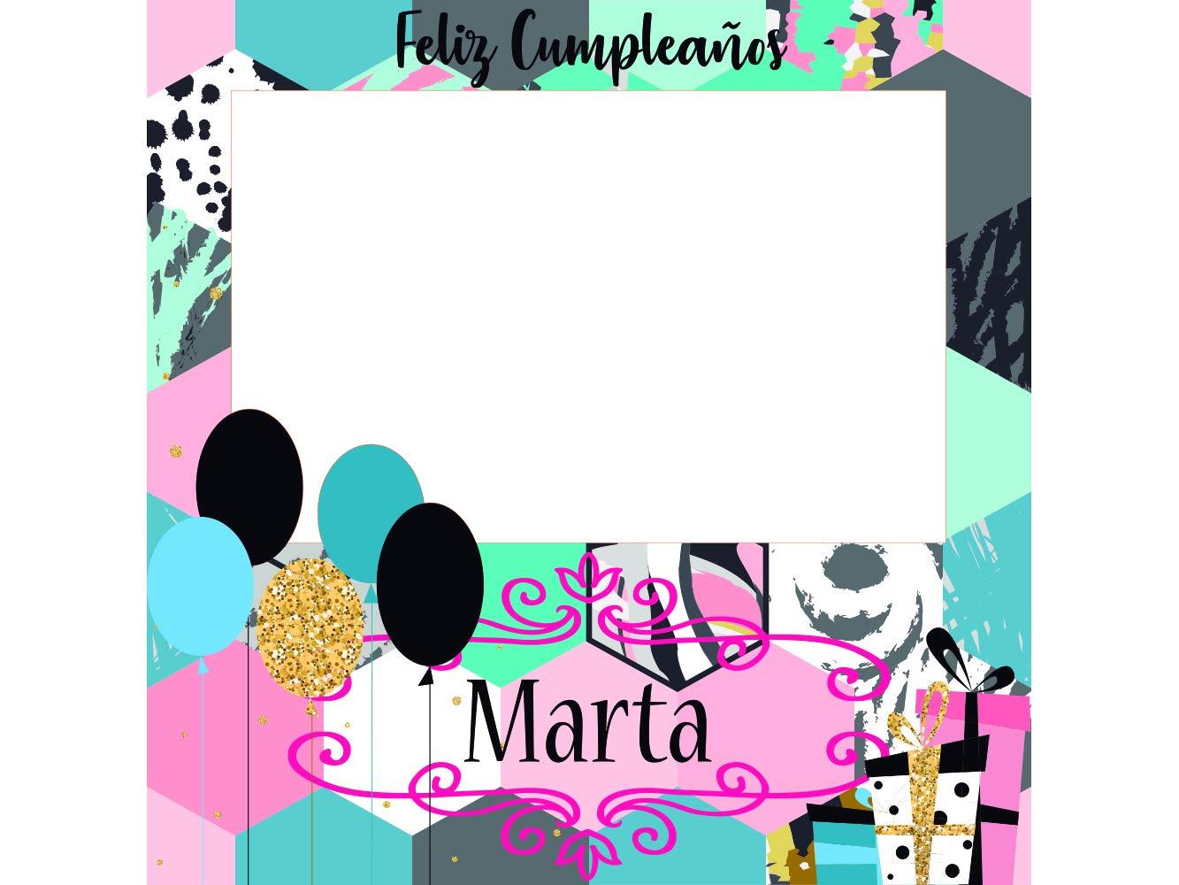 Photocall Feliz Cumpleaños 100 x100 cm   Regalos para Cumpleaños   Photocall Económico y Original   Ideas para Regalos   Regalos Personalizados de ...
