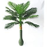 Hyperbole Plastic Artificial Large Silk Green Leaves Palm Tree with No Pot (100cm)