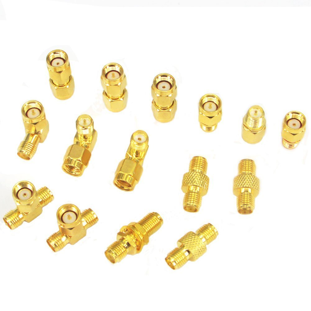 SMA Adapter Kit SMA Male Female WiFi Antenna Extension Connector Pack of 15 onelinkmore OL-3261-X