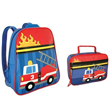 Amazon.com | Stephen Joseph Fire Truck Backpack and Lunch Box ...