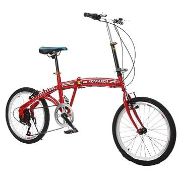 HUALQ Bicicleta Velocidad Variable Bicicleta Plegable 20 Pulgadas Mujer y niño Adulto Estudiante niños Bicicleta Plegable