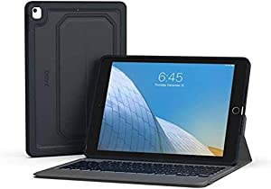 "ZAGG Rugged Messenger – Backlit Case and Bluetooth Keyboard – Made for Apple iPad 10.2"" – Durable Case with Built-in Stand – Multiple-Device - Charcoal"