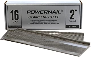 "product image for Powernail 16ga 2"" Stainless Steel L-Style PowerCleats (box of 1000)"