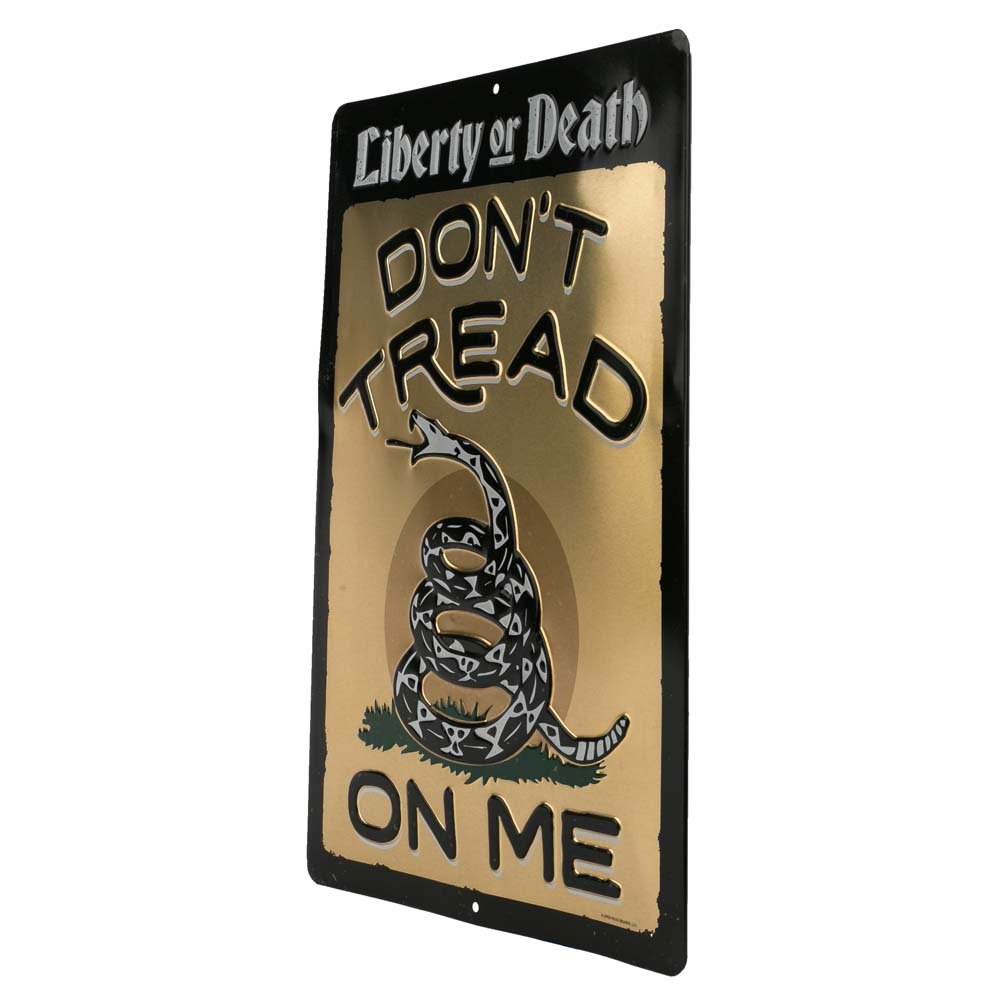 Dont Tread On Me - Embossed Open Road Brands Heritage /& Public Service Signs