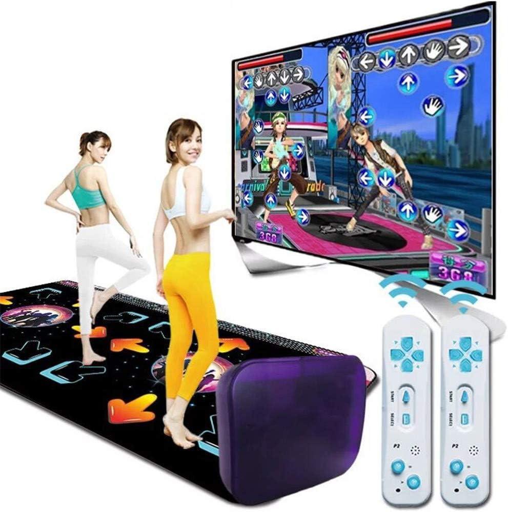 Musikspielmatte f/ür Erwachsene//Kinder FAMLYJK Tanzschritt-Tanzmatte TV-AV-Videospiel-Tanzmatten-Pads Tanzteppich Double Wireless 3D Somatosensorik