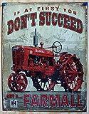 Farmall - Succeed Tin Sign 13 x 16in