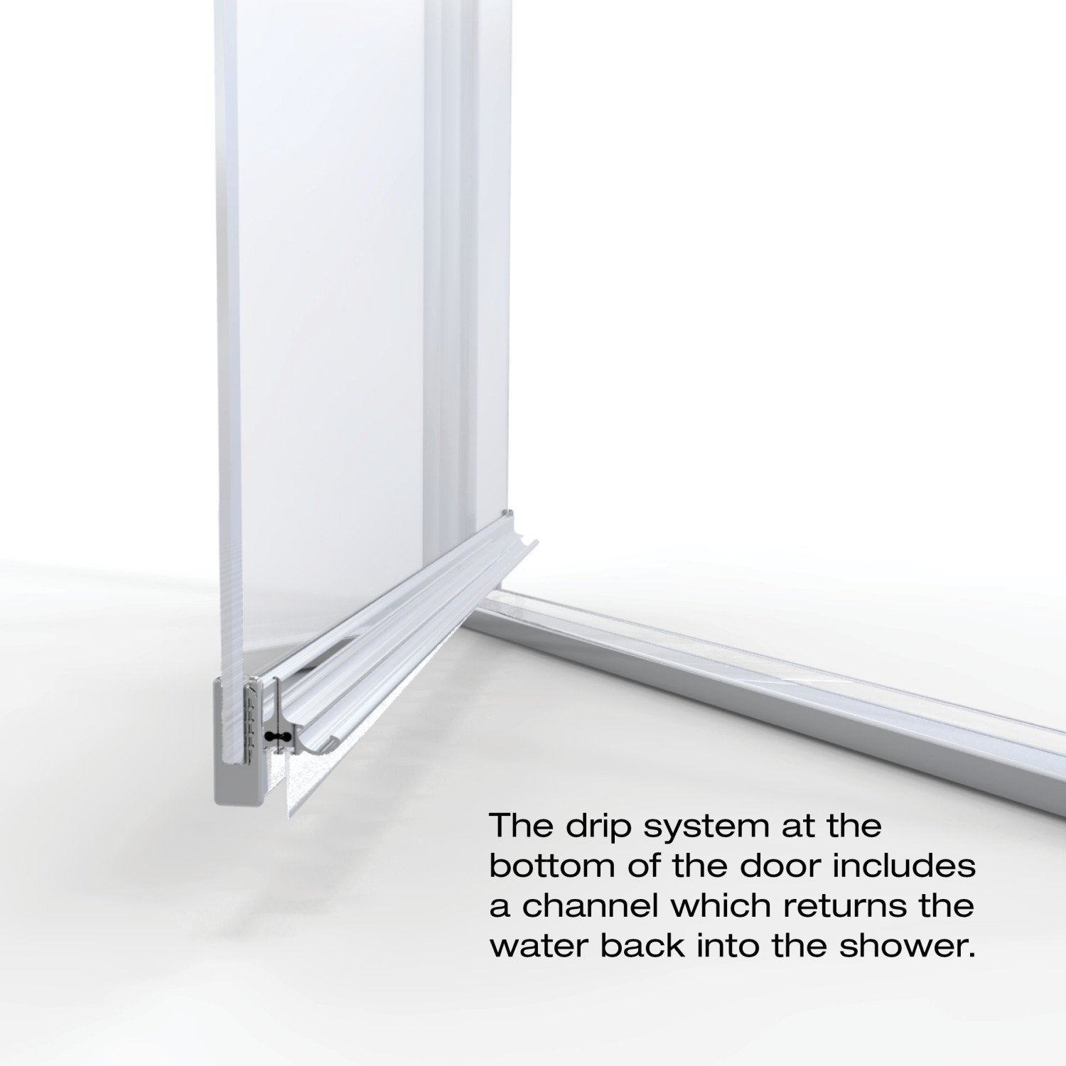 Basco Classic 28.625 to 30.125 in. width, Semi-Frameless Pivot Shower Door, Clear Glass, Silver Finish by Basco Shower Door (Image #7)