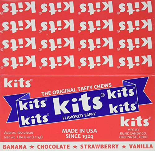 Kits Assorted Candy Box, 38 Ounce , 100 - Sticks Candy Flavor