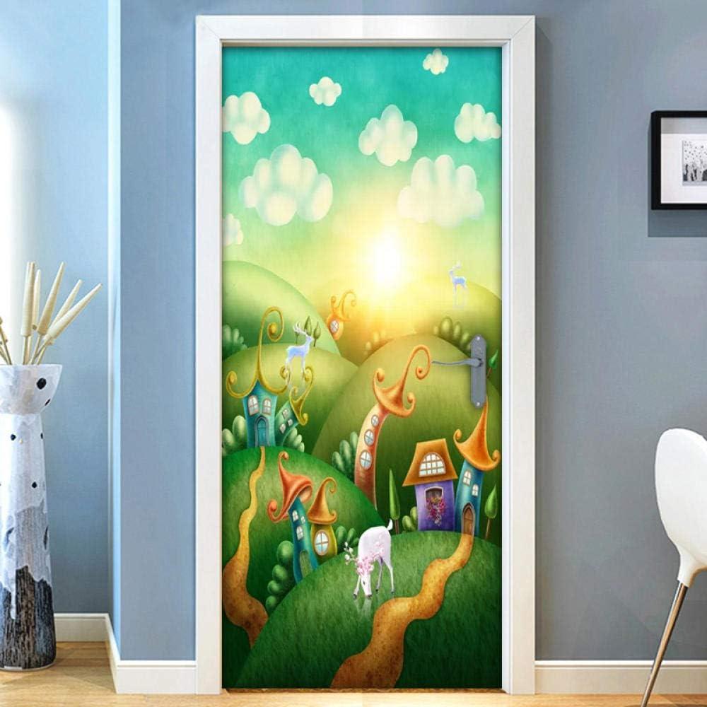 Selbstklebend Wand Sticker Wandbild Wasserfest Abnehmbar 3D Flur Tür